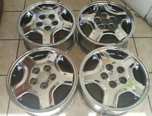 2002 2003 Toyota Camry Chrome Factory Alloy Wheels Rims Chrome 69519 Used