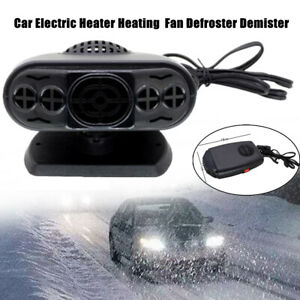 12v Black Abs Car Auto Portable Electric Heater Heating Fan Defroster Demister