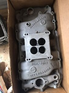Offenhauser Offy 360 Big Block Chevy 396 427 454 Dual Port Intake Manifold