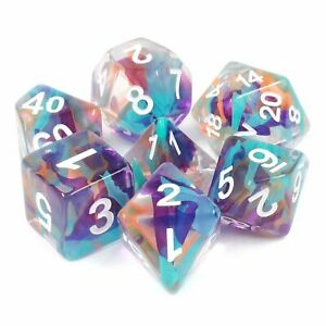 Unknown Land Ribbon Dice 7 dice Set By Hengdadice Dnd Dice