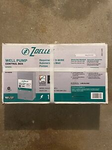 Well Pump Control Box New Zoeller 230v For 3 Wire Pump Free Same Day Ship