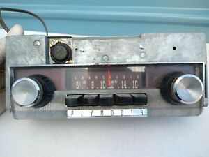 Vintage Original Plymouth Am Radio Mopar 216 With Knobs And Bezel transaudio 60s