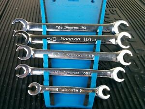 Aj772 Snap On 5 Piece Sae Flare Nut Line Wrench Set