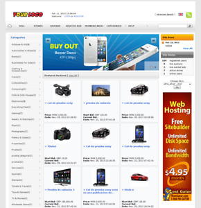 Ebay Clone Auction Website silver Free Install Hosting With Ssl