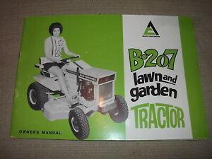 Allis Chalmers B207 Lawn Garden Tractor Owners Operation Manual Book Guide