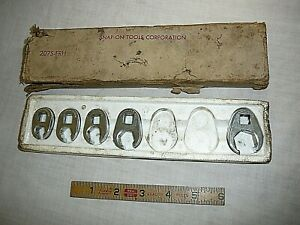 Snap On Crowfoot Flare Nut Wrench Set In Box 207s Frh 3 8 3 4 3 8 Drive 5pc
