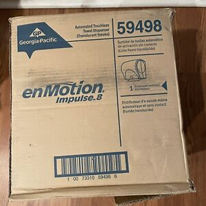 Enmotion 59498 Impulse 8in Black Automated Touchless Paper Dispensers New