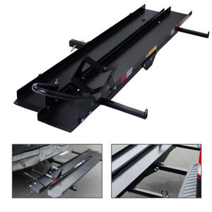 New Motorcycle Scooter Carrier Cargo Ramp Steel Fits Hauler Hitch Mount Rack