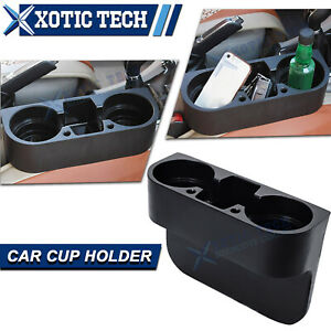 Car Seat Seam Cup Holder Phone Mount Stand Storage Organizer Universal Fit