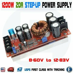 1200w 20a Dc Converter Boost Step up 8 60v To 12 83v Power Supply Module Car