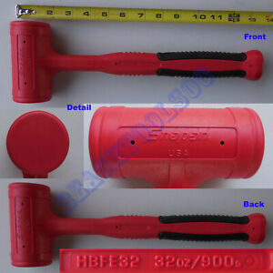 New Snap On Red Dead Blow Soft Grip Hammer 32oz Hbfe32 Made In Usa
