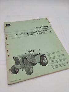 Original John Deere 110 112 Lawn And Garden Tractor Parts Catalog 100000