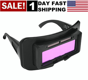 Solar Powered Smart Sensor Auto Darkening Welding Helmet Eyes Welder Glasses Us