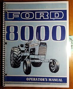 Ford 8000 Tractor 1970 1972 Owner s Operator s Manual Se 3096 a 42800011