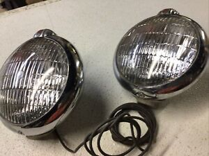 Vintage Unity Cruiser Driving Fog Light Ge Clear Lens Pair Brd6