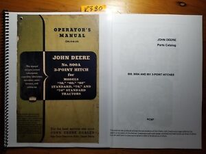 John Deere 800a 3 point Hitch For 50 60 70 Tractor Owner Operator Manual Parts