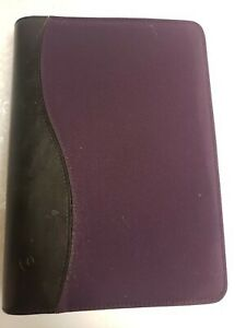 Franklin Covey 365 Purple Canvas 7 Ring Monthly Weekly Organizer W inserts