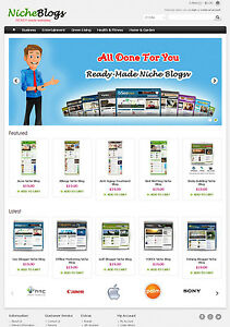 Niche Blogs Store Website For Sale 40 Blogs Preloaded Free Hosting