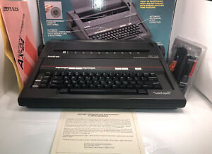 Brother Self Correcting Ax 24 Portable Electronic Typewriter Box manual Ink