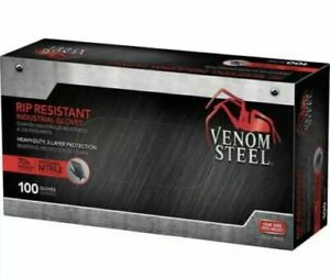 Nitrile Gloves Vemon Heavy Duty 2 Layers One Size 70 thicker 1 Box X 100 Ct