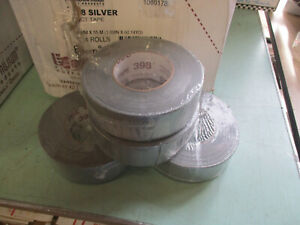 Lot Of 4 Rolls Nashua 398 48mm X 55m All weather Hvac Duct Tape Silver New Er