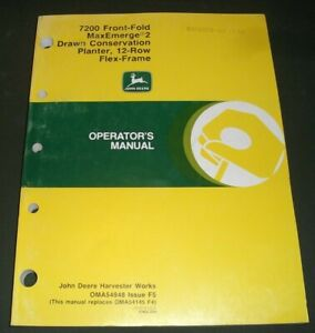 John Deere 7200 Maxemerge 12 Row Planter Operation Maintenance Manual