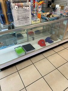 Retail Glass Display Case Full Vision 70 With Lights Showcase