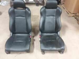 Left And Right Front Seats Coupe Bucket Leather Electric Fits 03 04 350z 708702