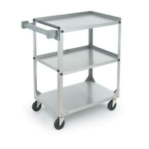 Vollrath 97126 30 7 8 In X 17 3 4 In 3 tier Stainless Steel Utility Cart