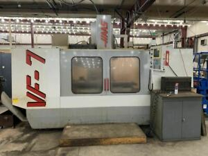Haas Vf 7 Vmc 1998 Tsc Cat 50 Vices Tooling Included