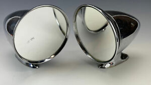 Vintage Bullet Tear Drop Style Chrome Adjustable Side View Mirrors Used Rat Rod