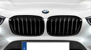 Bmw Genuine M Black Kidney Grilles Set 2016 2019 F48 X1 28i 28ix 51712407733