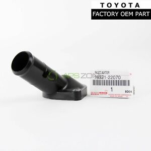 Genuine Toyota Corolla Mr2 Celica Water Inlet Thermostat Housing Oem 16321 22070