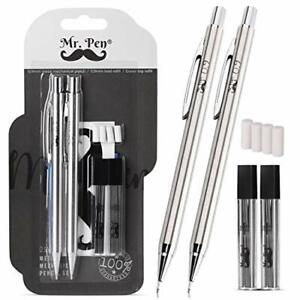 Mechanical Pencils 0 9 Pack Of 2 Metal Mechanical Pencil With Lead And Eraser