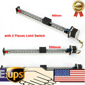 Linear Guide Rail Cnc Slide Stage Actuator Ball Screw Motion Table W 57 Stepper