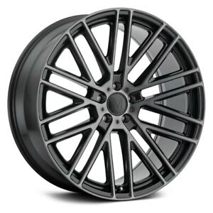 Mandrus Masche Wheel 22x10 5 38 5x112 66 56 Black Single Rim