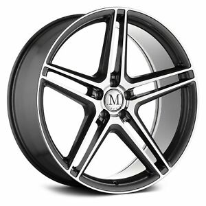 Mandrus Bremen Wheels 20x10 35 5x112 66 6 Gunmetal Rims Set Of 4