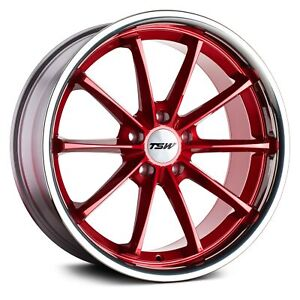 Tsw Sweep Wheel 19x8 5 40 5x114 3 76 1 Red Single Rim
