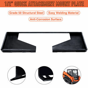 1 2 Quick Attach Mount Plate Attachment For Tractors Skid Steers Loaders