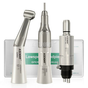 Dental Contra Angle Straight Air Motor Low Speed Handpiece 4holes Kits Usa