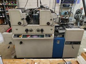 Ryobi 3302m Two color Offset Printing Press In Very Good Working Condition