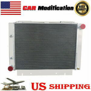 4 Rows Aluminum Radiator For 1960 1961 1962 1963 Ford Galaxie 500xl L6 v8
