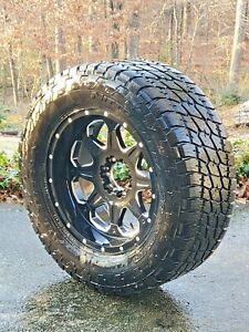 Nitto Terra Grappler Tire 325 60r20 D538 Mht Maverick Wheel 6x135 Black Milled