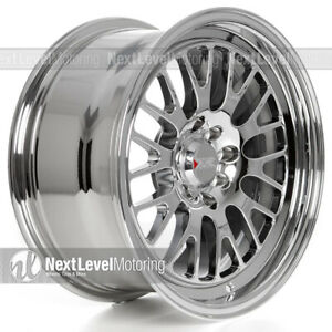 Xxr 531 16x8 4x100 4x114 3 20 Platinum Wheels Fits Acura Integra Dc2 Chrome