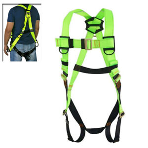 Ridgeyard 45mm Safety Harness Ring Grommets Fall Protection Full Body Green