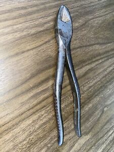 Vintage Snap on tool Vacuum Grip No 87 Side Wire Cutters Pliers Made In Usa