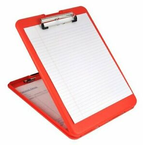 Saunders Slimmate Clipboard Letter a4 Red