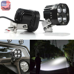 2x Led Work Light 3in 40w Pods Bar Lamp White Driving Spot Truck Suv Offroad Us