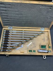 Mitutoyo Bore Micrometer Set 2 12 In Wooden Case Ims 1 141 133