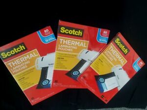 Scotch Thermal Laminating Pouches Letter Size 3 Mil 8 9 X 11 4 240 Sheets